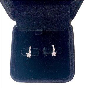 🆕S925 Sterling silver hoop star earrings
